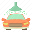 auto, automotive, car wash, cartoon, race, transport, vehicle icon