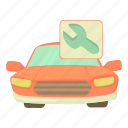 auto, automotive, car repairs, cartoon, formula, transport, vehicle icon