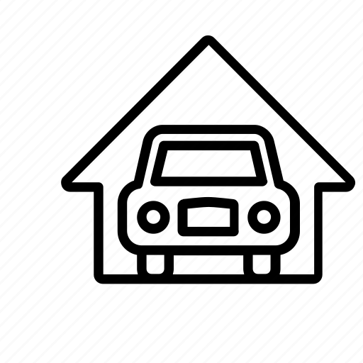 auto, car, garage, home, house, repair, shop, transport icon