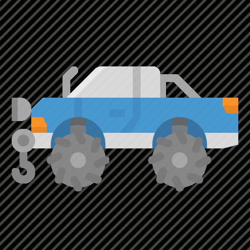 car, modify, pickup, rescue, service icon