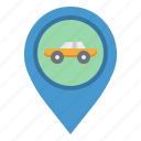 gps, location, placeholder, pointer, taxi icon