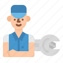 avatar, car, service, technical, wrench icon