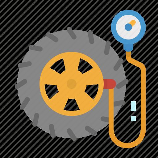 air, car, pump, tire, wheel icon