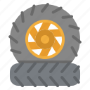 parts, tire, tires, transportation, wheel icon