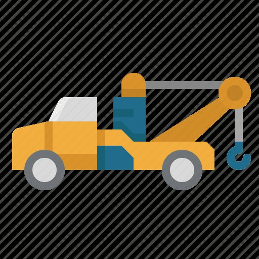 breakdown, car, tow, transportation, truck icon