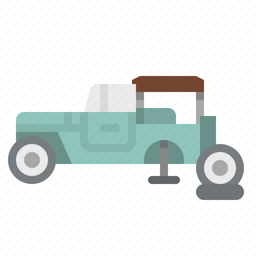car, garage, repair, van, wheel icon