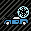 air, car, conditioner, freeze, snowflake