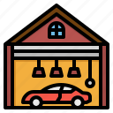 car, electronics, garage, parking, vehicle icon