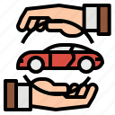 buy, car, hand, lease, rent icon