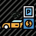 auto, car, coin, machine, parking
