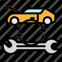 car, repair, service, transportation, wrench