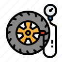 air, car, pump, tire, wheel icon