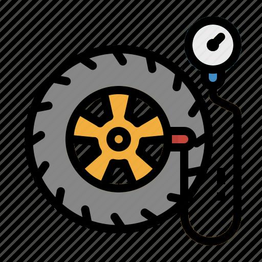 Air, car, pump, tire, wheel icon - Download on Iconfinder