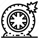 vehicle, service, car, tire, part icon
