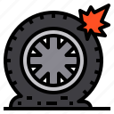 car, service, tire, support, part icon