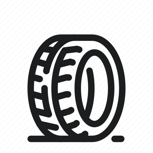 car, rubber, tire, wheel icon