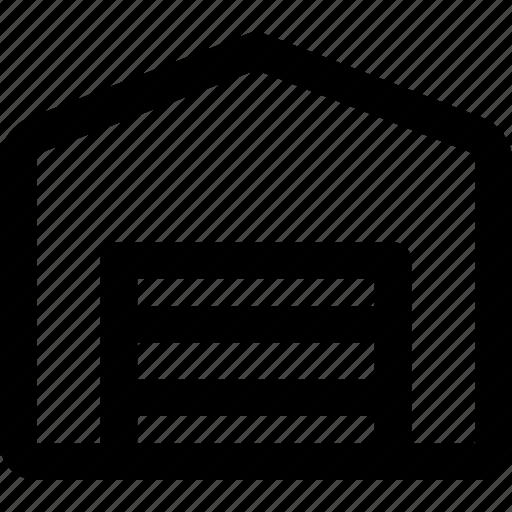 car, door, garage, lot, parking, services icon