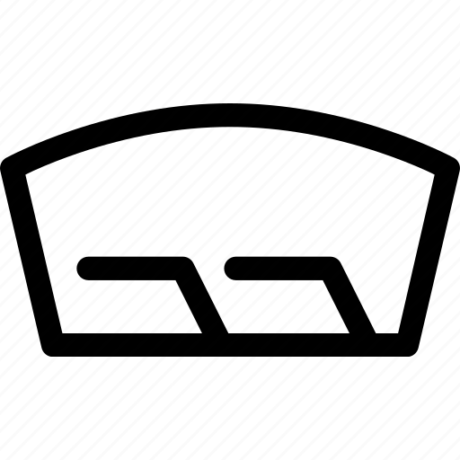 car, front, repair, window, windshield, wipers icon
