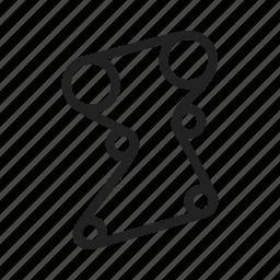 belt, belts, car, engine, rubber, timing, vehicle icon