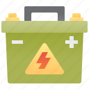 battery, electricity, engine, mechanic, power icon