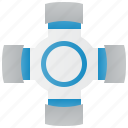 car, joint, mechanic, part, universal icon