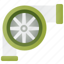 engine, mechanic, power, repair, turbocharger icon