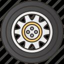 automobile, car, service, tire, wheel icon