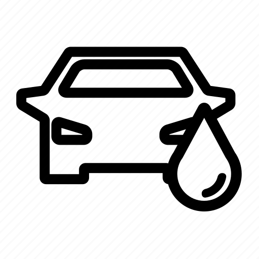 car, drop, wash, water icon