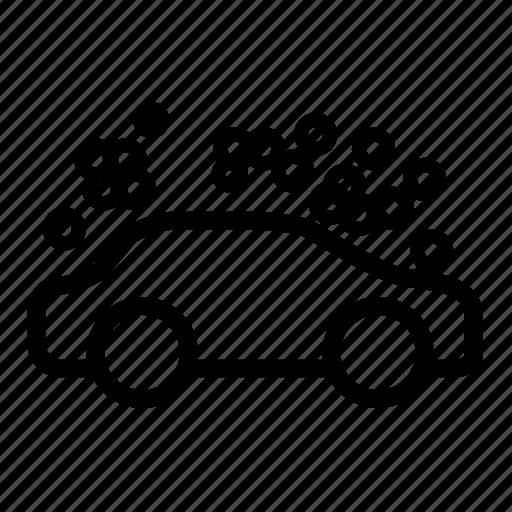 automobile, car, foam, spray, vehicle, wash icon