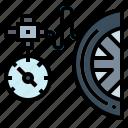 car, pressure, tire, transportation, wheel icon