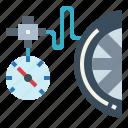 tire, transportation, car, pressure, wheel icon