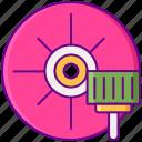 abrasive, grinder, materials icon