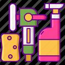 full, service, wash icon