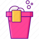 bucket, cleaning, pail icon