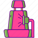 car, hoovering, seat, vacuum icon