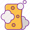 cleaning, sponge, wash icon