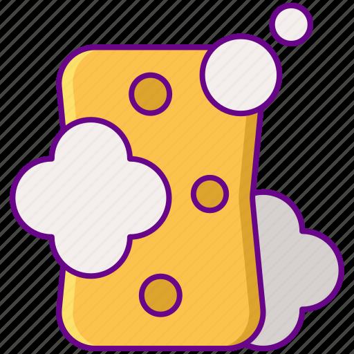 cleaning, sponge, wash icon