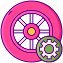 maintenance, tire, wheel icon