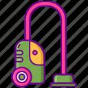 hoovering, interior, vacuum icon