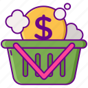 deal, packages, wash icon