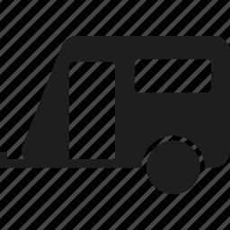 camp, caravan, trailer, travel trailer icon
