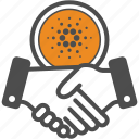 cardano, contract, deal icon