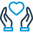 hand, heart, heartbeat, hold, hospital, medical, pulse icon