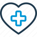cross, heart, heartbeat, hospital, medical, plus, pulse icon