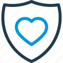 heart, heartbeat, hospital, medical, pulse, security, shield icon