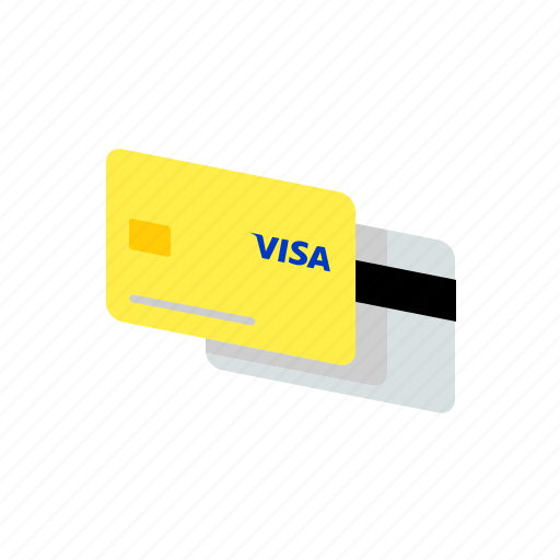 bank, card, credit, pay, payment, shopping, visa icon
