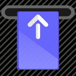 arrow, atm, card, cashout, move icon