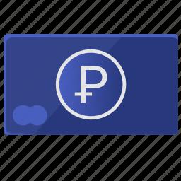 card, credit, debet, money, ruble icon