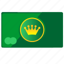 card, crown, king, money, queen icon