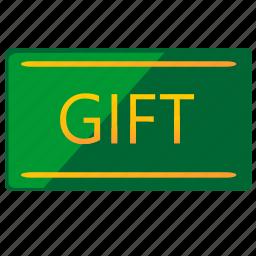 card, gift, plastic, present icon